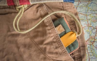 travel wallet safe with the string attached to it - keep your money safe while travelling