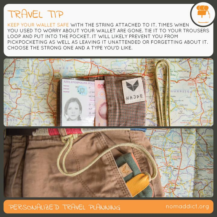 this is nomaddict money safety travel tip - use it to keep your stuff safe when travelling