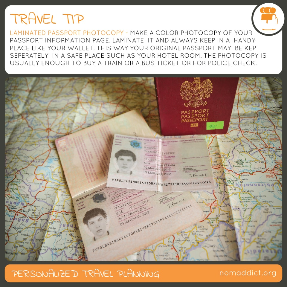 How to keep your passport safe - passport travel safety tip passport laminated photocopy